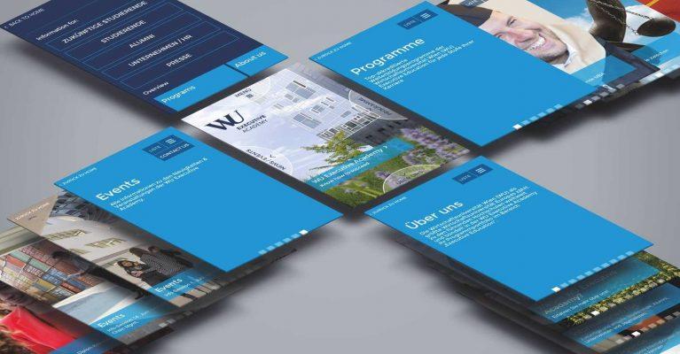 Digitalsunray schreibt über das Projekt mit der WU Executive Academy und stellt die Kompassnavigation als mobile Desigs vor