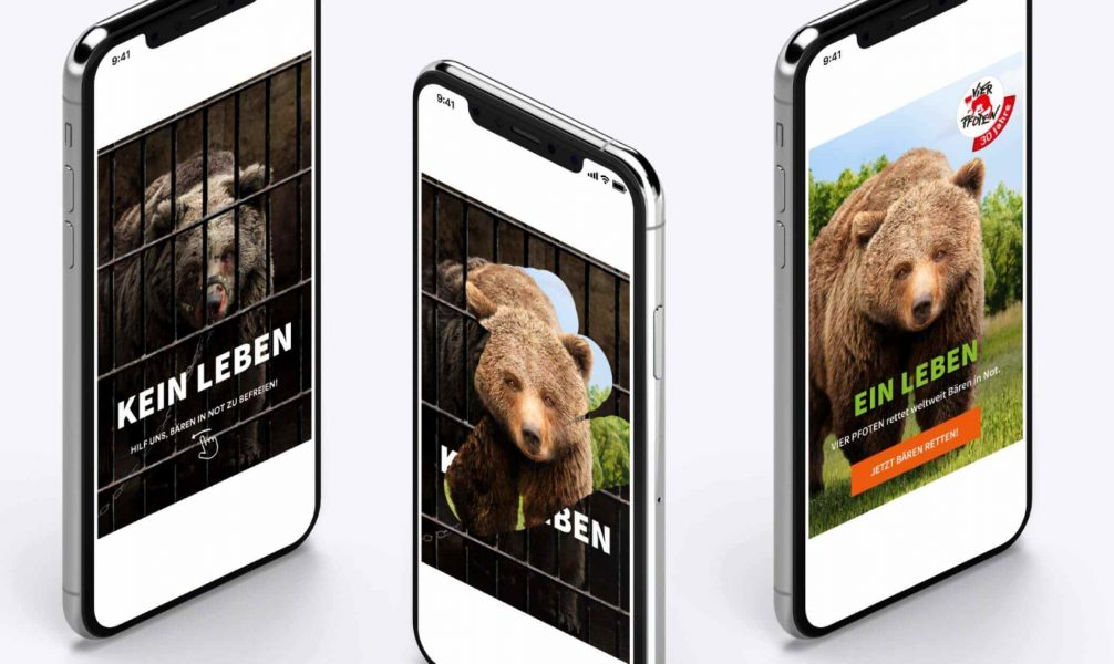 The interactive mobile ad where you had to wipe to free a trapped bear.