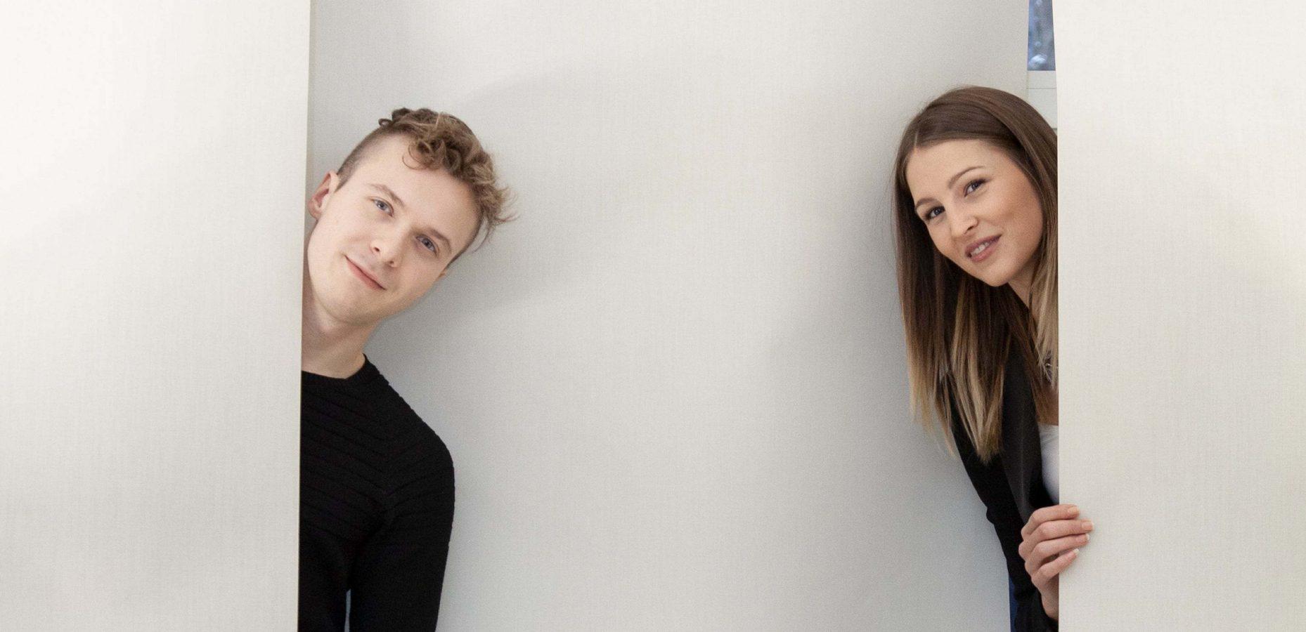 Zwei Studenten aus der FH des BFI Wien