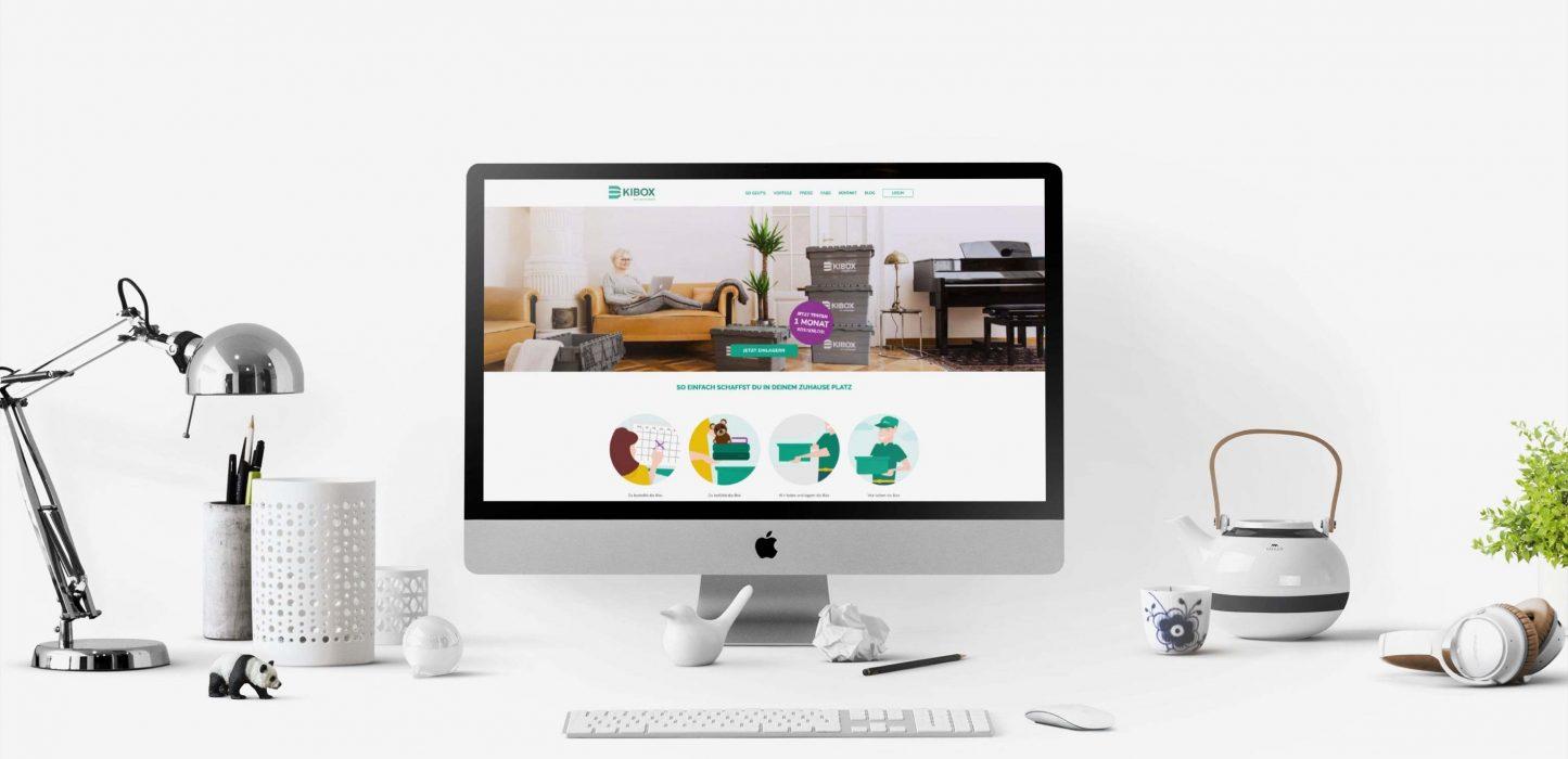 Das Website Design unseres Kunden KIBOX für den Desktop